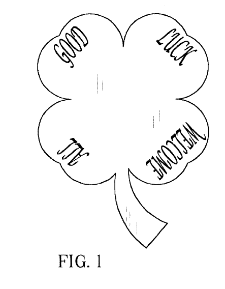 A patent for a shamrock decoration for St. Patrick's Day