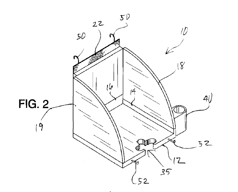 Image of a patent having a shamrock shape cut-out